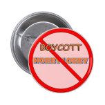 Pasillo de la afición del boicoteo pins