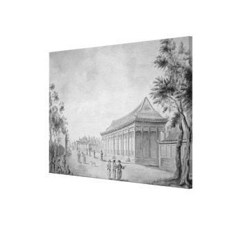Pasillo de la audiencia en el palacio de verano vi lona estirada galerías