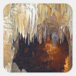 Pasillo de la escena mística de la cueva de las pegatinas cuadradases