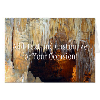 Pasillo de la escena mística de la cueva de las tarjeta de felicitación