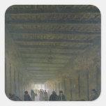 Pasillo de la prisión del Santo-Lazare en 1793 Calcomanías Cuadradas