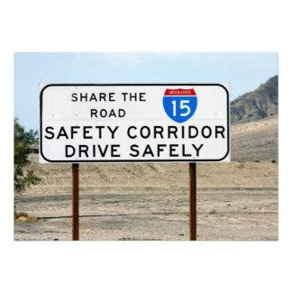 Pasillo de la seguridad I-15 Invitación