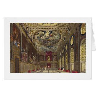 Pasillo de San Jorge, castillo de Windsor, del 'Re Tarjeta De Felicitación