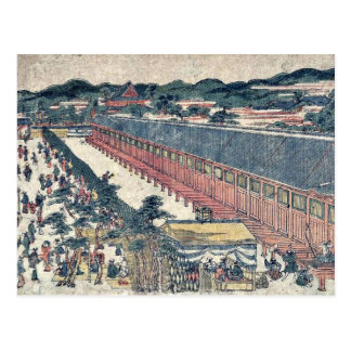 Pasillo de treinta y tres bahías por Utagawa, Toyo Postal