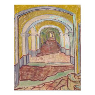 """Pasillo de Van Gogh en el asilo Invitación 4.25"""" X 5.5"""""""