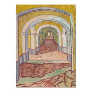 """Pasillo de Van Gogh en el asilo Invitación 4.5"""" X 6.25"""""""