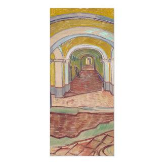 """Pasillo de Van Gogh en el asilo Invitación 4"""" X 9.25"""""""