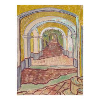 """Pasillo de Van Gogh en el asilo Invitación 5.5"""" X 7.5"""""""