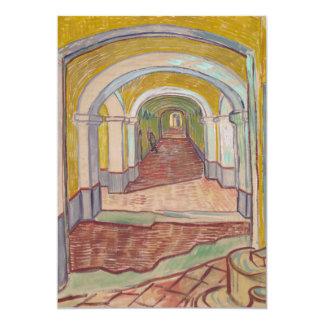 """Pasillo de Van Gogh en el asilo Invitación 5"""" X 7"""""""