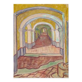 """Pasillo de Van Gogh en el asilo Invitación 6.5"""" X 8.75"""""""