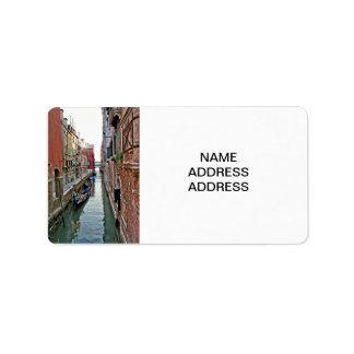 Pasillo de Venecia Etiquetas De Dirección