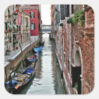 Pasillo de Venecia Pegatina Cuadrada