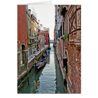 Pasillo de Venecia Tarjeta De Felicitación