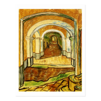 Pasillo del asilo de San Pablo, Vincent van Gogh Postales