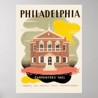 Pasillo del carpintero de Philadelphia Impresiones