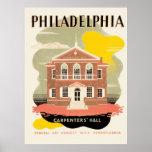 Pasillo del carpintero de Philadelphia Póster