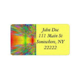Pasillo del extracto de la información etiquetas de dirección
