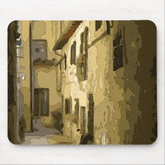 Pasillo del ladrillo en Italia Alfombrillas De Ratón