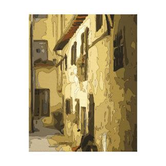 Pasillo del ladrillo en Italia Lienzo Envuelto Para Galerías