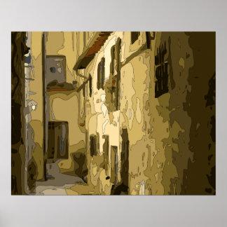 Pasillo del ladrillo en Italia Impresiones
