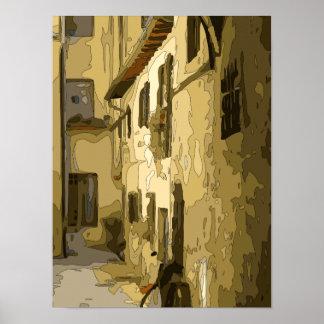 Pasillo del ladrillo en Italia Posters