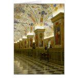 pasillo del museo de vatican tarjeton