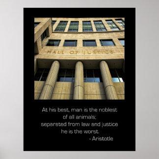 Pasillo del poster de la cita de Aristóteles de la