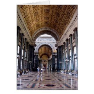 pasillo del salón del capitolio tarjeton