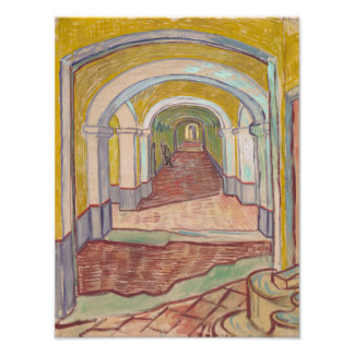 Pasillo en el asilo de Vincent van Gogh Fotografias