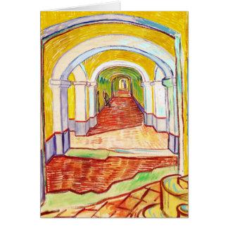 Pasillo en el hospital Vincent van Gogh de San Tarjeta Pequeña