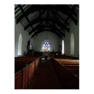 Pasillo en la iglesia del St Tydecho en Cemaes Tarjeta Postal