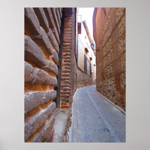 Pasillo en Toledo, España Póster