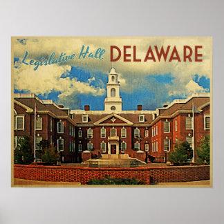 Pasillo legislativo Delaware Poster