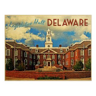 Pasillo legislativo Delaware Tarjeta Postal