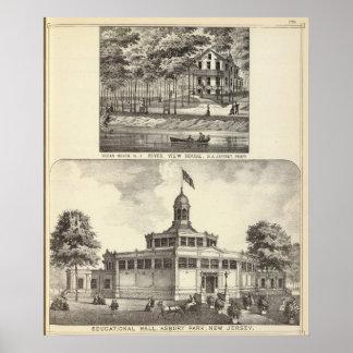 Pasillo, parque de Asbury y casa educativos de la  Impresiones
