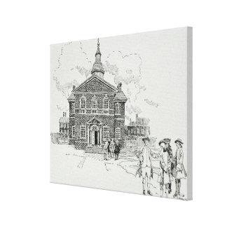 Pasillo Philadelphia del carpintero Lona Envuelta Para Galerías