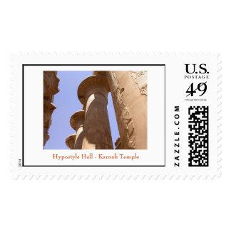 Pasillo - templo hipóstilos de Karnak Sello Postal