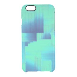 Pasillos del azul de la aguamarina funda clearly™ deflector para iPhone 6 de uncommon
