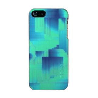 Pasillos del azul de la aguamarina funda para iPhone 5 incipio feather shine