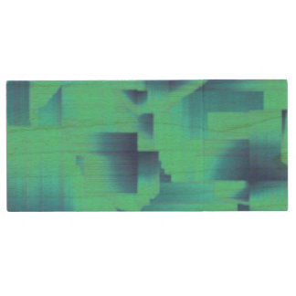 Pasillos del azul de la aguamarina memoria USB 2.0 de madera