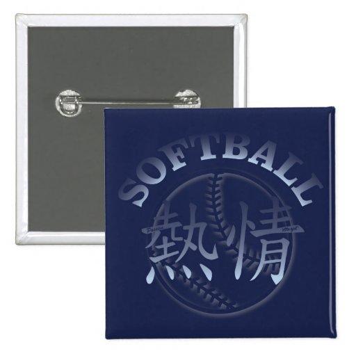 Pasión china para el softball pin