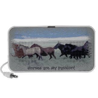 Pasión corriente del caballo de la manada del caba mini altavoz