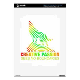 Pasión creativa See ningunos límites iPad 3 Pegatinas Skins