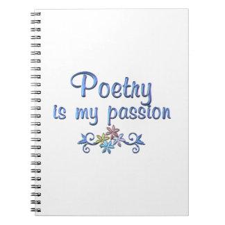 Pasión de la poesía libros de apuntes
