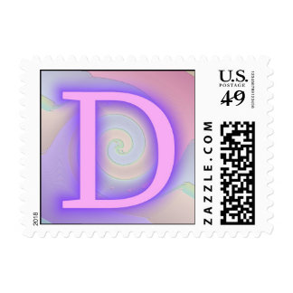 Pasión de la púrpura del monograma de D