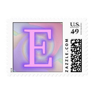 Pasión de la púrpura del monograma de E