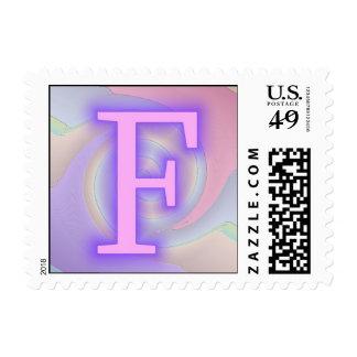 Pasión de la púrpura del monograma de F
