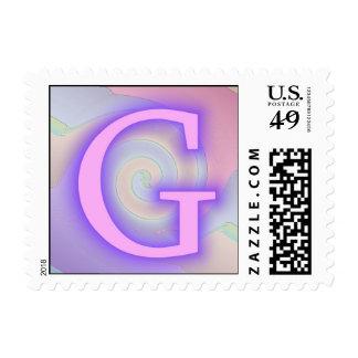 Pasión de la púrpura del monograma de G