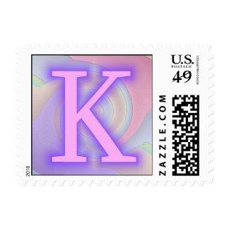 Pasión de la púrpura del monograma de K