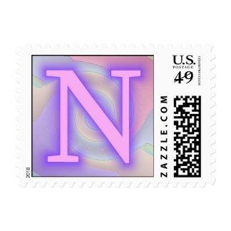 Pasión de la púrpura del monograma de N